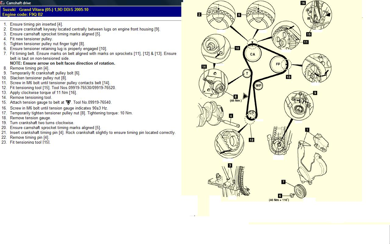 How Difficult Is It To Replace The Timing Belt On A 2007 Grand. Suzuki. Suzuki Vitara 1 6 Engine Diagram At Scoala.co