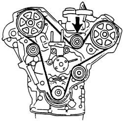 Diagram    cam timing marks on 1994 626 25    engine