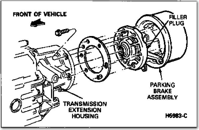 how to remove parking brake drum on rear of transmisson. Black Bedroom Furniture Sets. Home Design Ideas