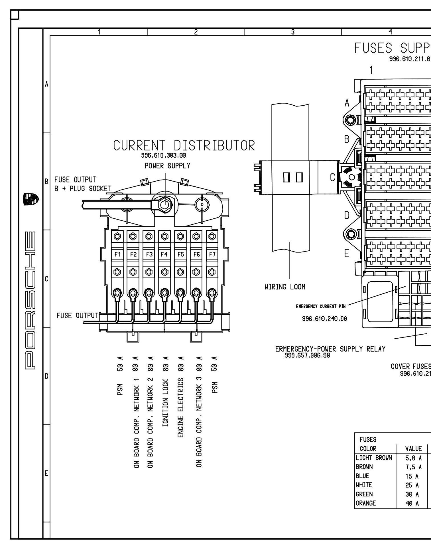 1998 porsche boxster fuse diagram basic guide wiring diagram u2022 rh needpixies com Porsche 996 Fuse Box Diagram 1998 porsche boxster fuse diagram