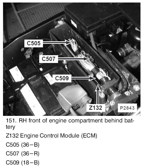 Were Is The Engine Management E.C.U Located On A 1997 4-6