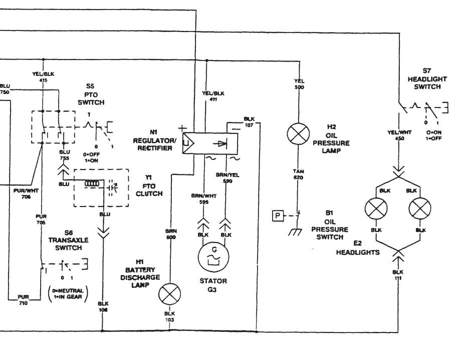 john deere l100 ignition diagram