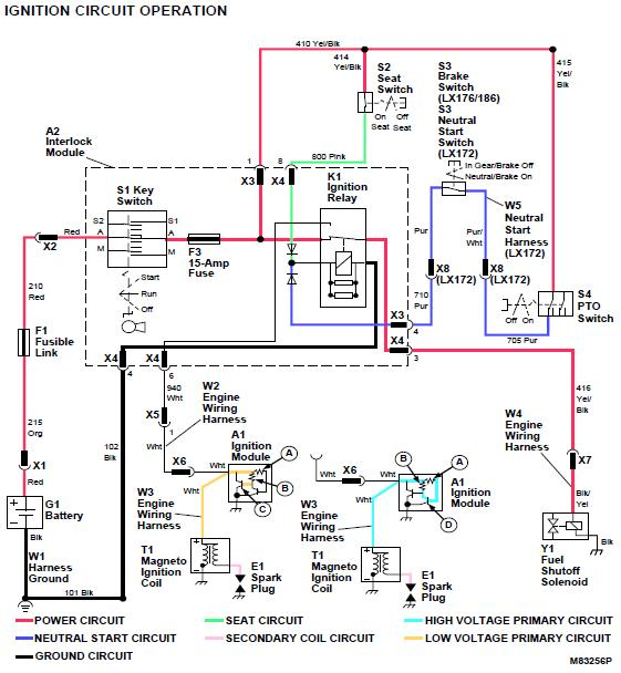 john deere x320 wiring diagram spark nice l100 pictures lt150 john deere  pto wiring: no spark, replaced spark plug and coil