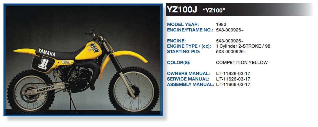 Have Yamaha Dirt bike VIN # 5X3-000959. What Year and displacement ...