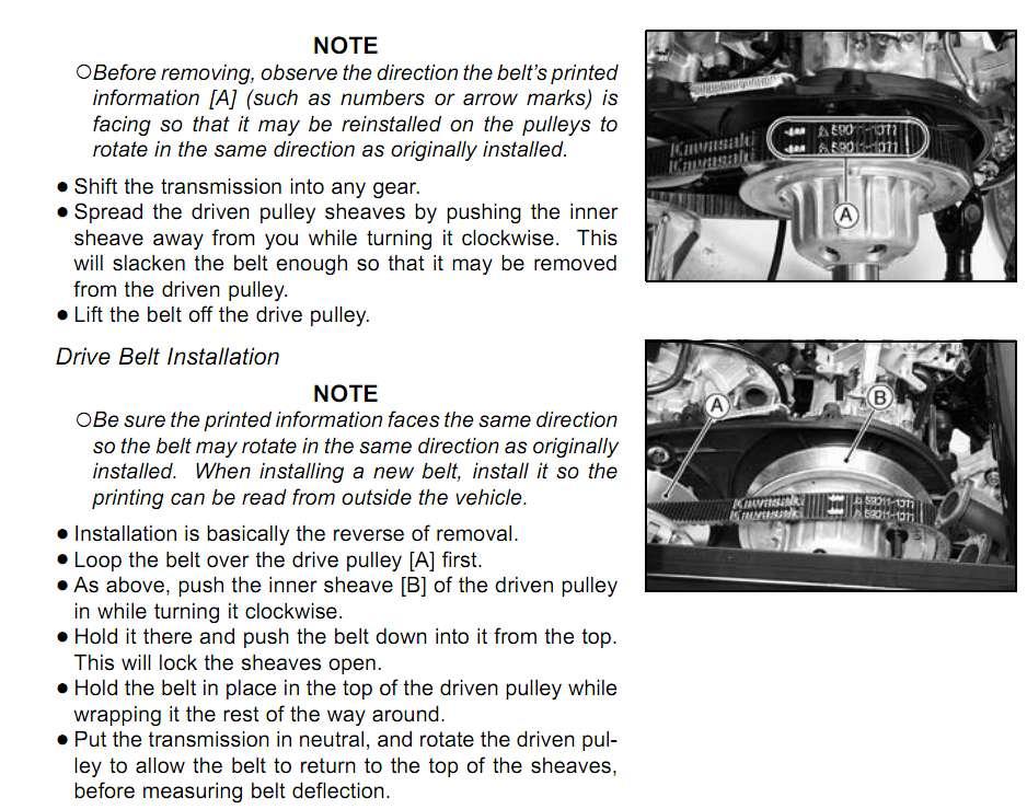Kawasaki Mule Drive Belt Deflection