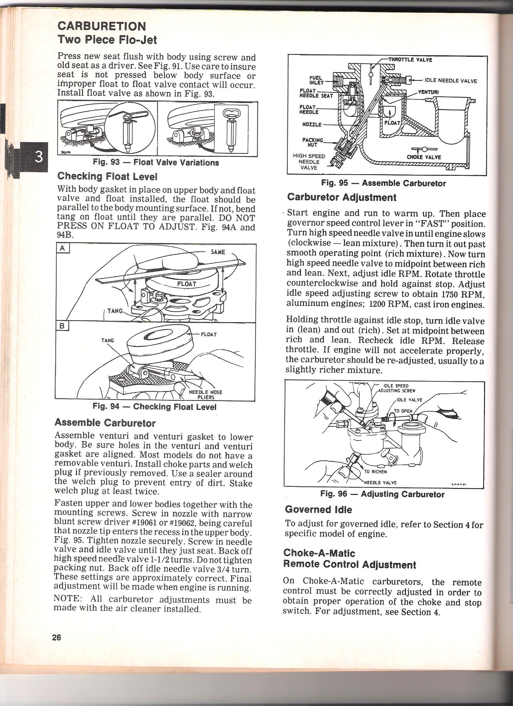 HP, &S Engine Model 190402, Type 0858-01, Code 75041711. 2 ...