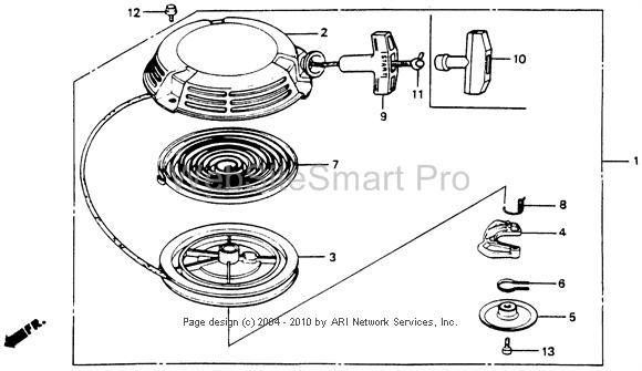 how to install broken pull cord starter