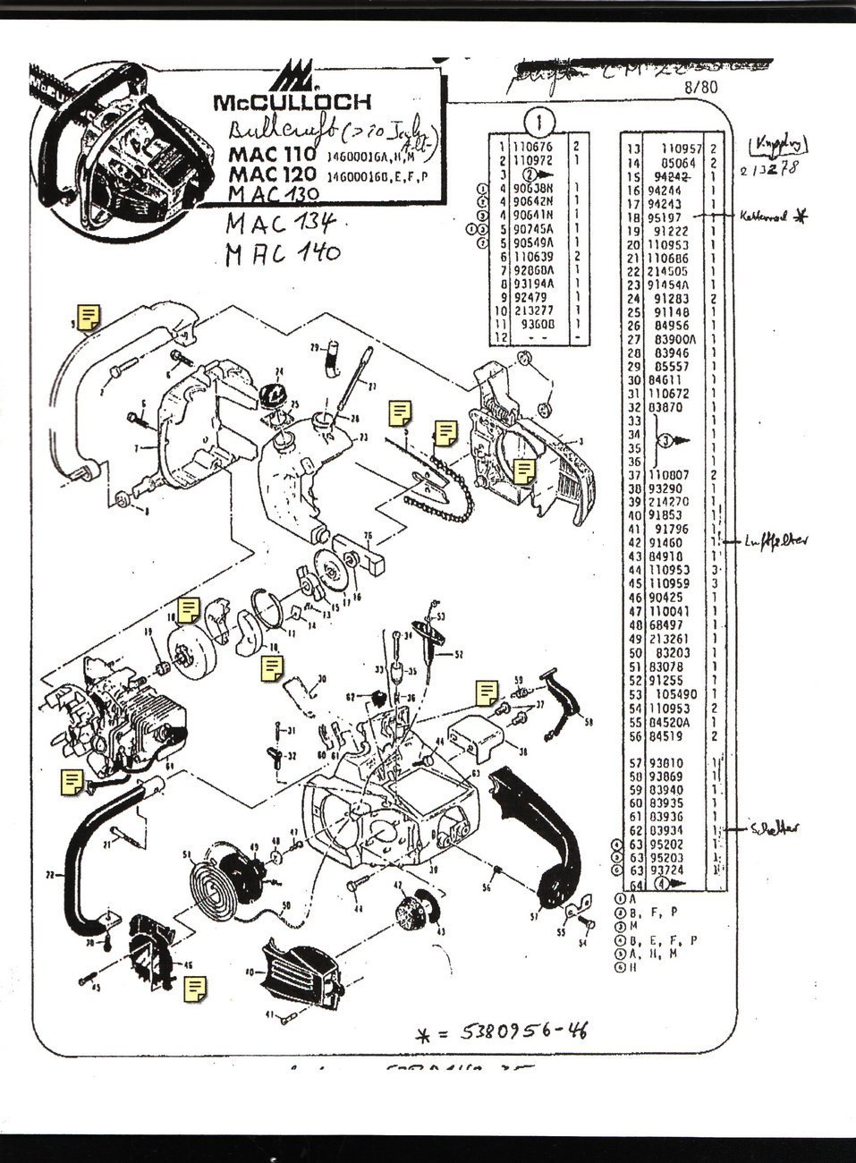 my mac120 saws fuel pump is u s what is the secret of removing the rh justanswer com Vintage McCulloch Chainsaw Cord Cutter McCulloch Chainsaw Manual Mac 110 120 130