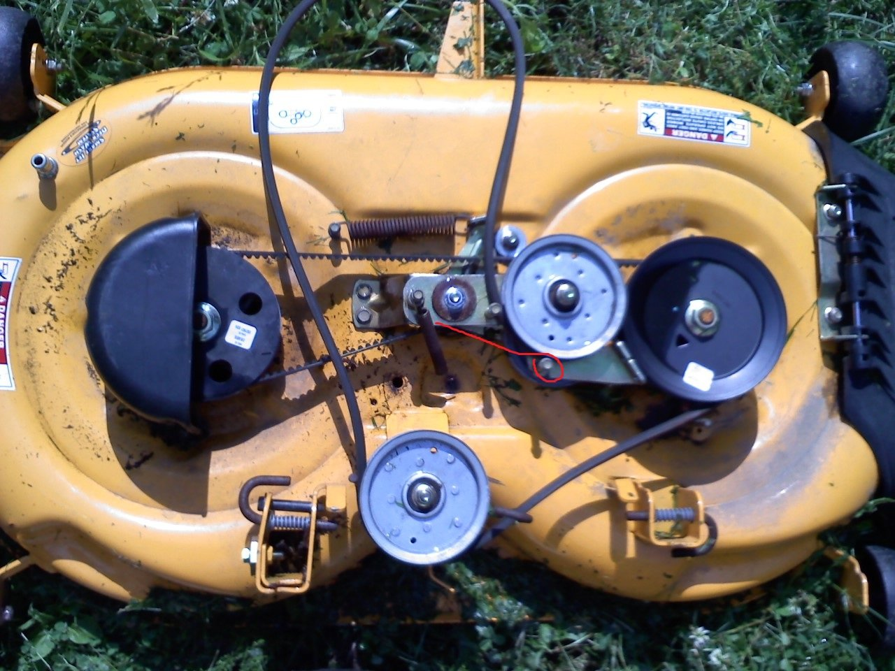 [DIAGRAM_5NL]  I have a cub Cadet LTX 1040 (model #13ax90ar009 serial #1e199h30144). The  idler pulley extension spring came off when I | Cub Cadet Ltx 1040 Mower Schematics |  | JustAnswer