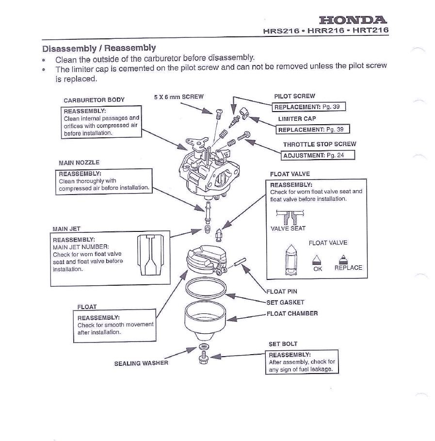 my honda lawn mower starts for a few seconds and then stops, this is honda small engine carburetor manual honda small engine carburetor diagram #9
