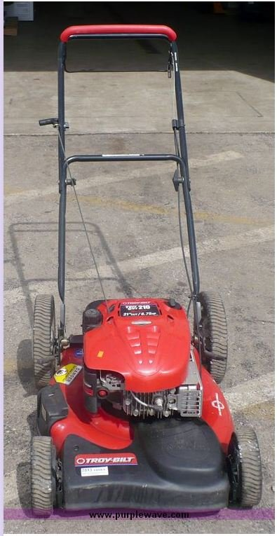 I Have A Troy Bilt 21 Self Propelled Mower Model 184986 And It