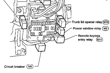 Fuse Box Logo in addition Why does my air conditioner Heater fan only work on High also Fuel Pump Location 2003 Dodge Stratus as well 1992 Honda Prelude Air Conditioner Electrical Circuit And Schematics moreover 7nmbx Replaced Alternator No Brake Lights Dash Lights Turn. on nissan fuse box