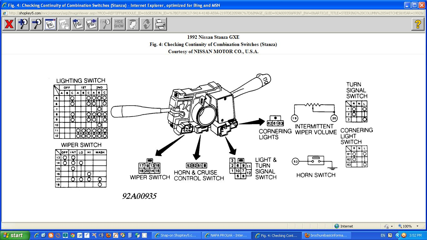 92 Nissan Sentra Fuse Box Electrical Wiring Diagram 200 1992 Stanza Trusted U2022