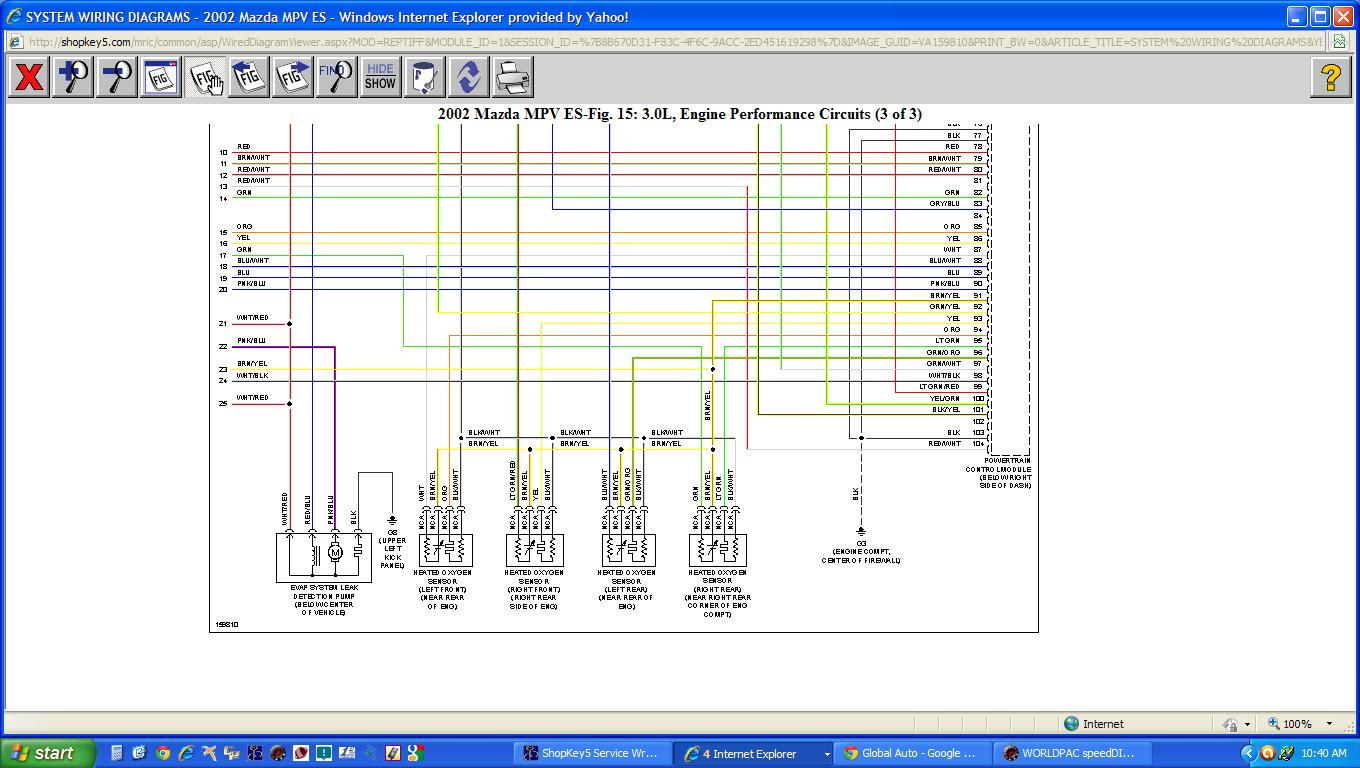 Mazda Mpv Fuse Diagram Great Design Of Wiring 2005 O2 Sensor Box Location 3 Map 2001