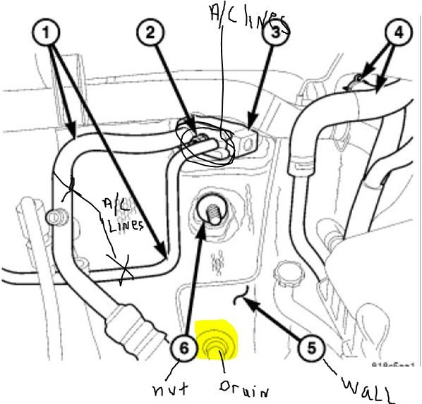 Where Is The A  C Condenser Drain Hose On A 2008 Jeep Liberty Located