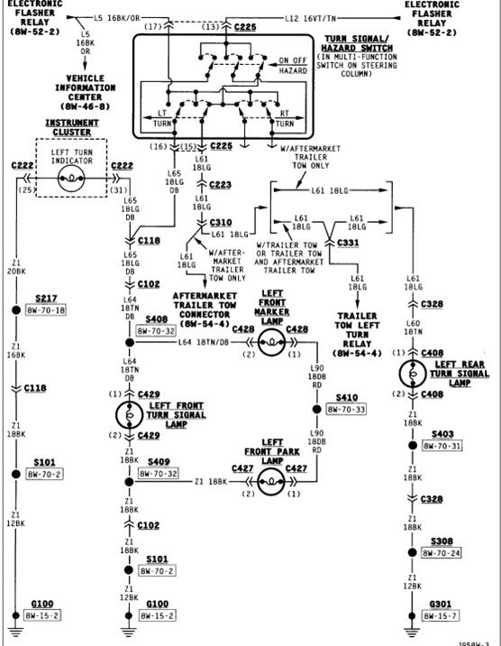 1995 jeep grand cherokee tail light wiring diagram   50