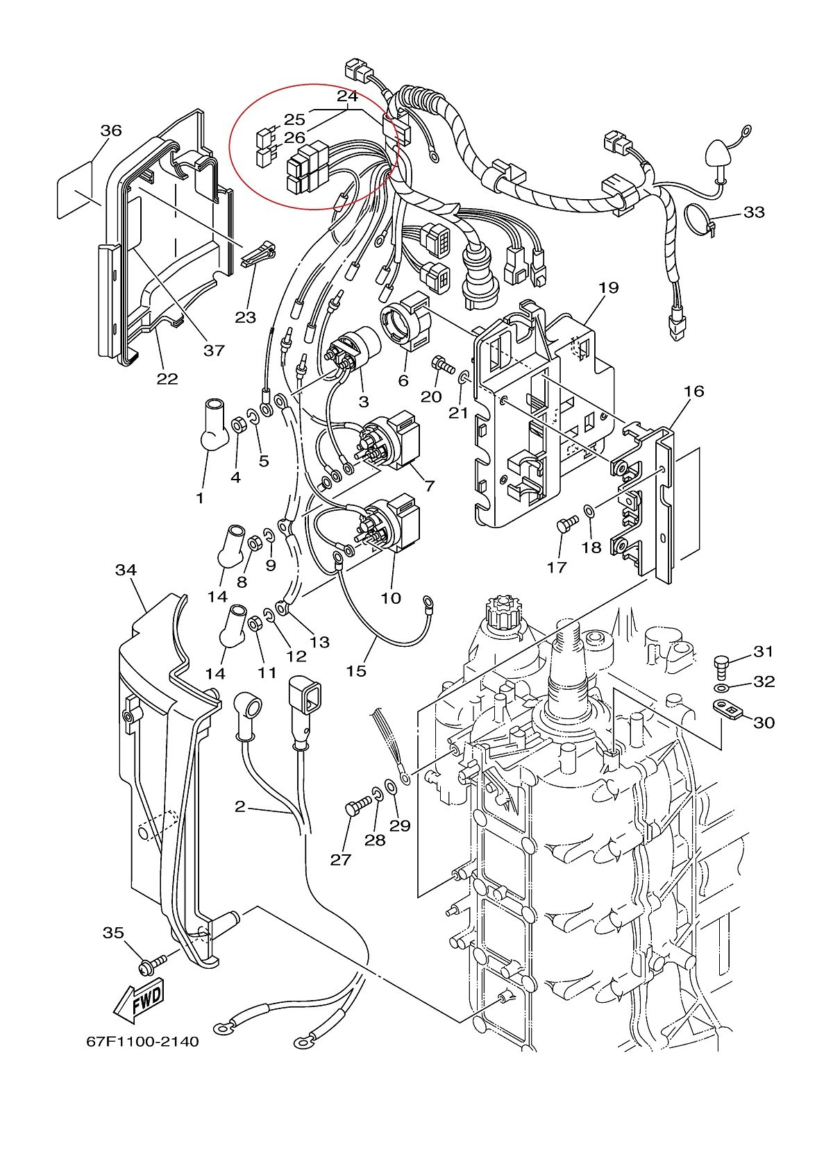 have a yamaha 90 4 stroke outboard (2002) and it will not start, no yamaha 90 hp outboard service manual yamaha 90 hp outboard diagram #28