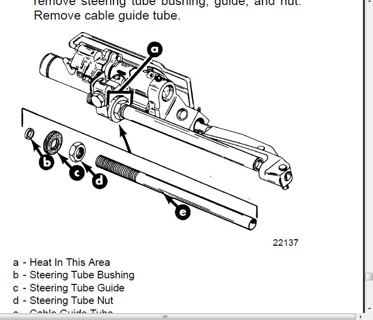 how to change steering cable on mercruiser
