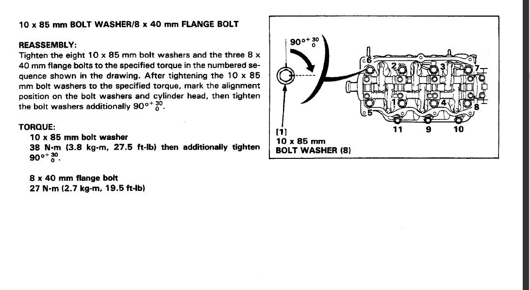 1995 honda bf50a fourstroke need to know head torque specs here is a snip from the service manual on the bf50 that shows the specifications and the sequence of torqueing the bolts down its exactly what you need publicscrutiny Images