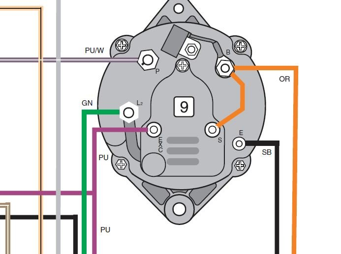 Trying To Find Wiring Diagram For Alternator  Not Sure