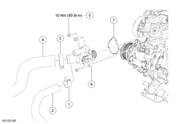 2003 ford escape thermostat location