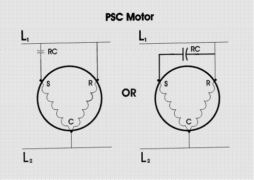 Wire ring a 240 v single phase motor and capacitor | Electronics Forum  (Circuits, Projects and Microcontrollers) | Psc Motor Wiring Diagram |  | Electro Tech Online