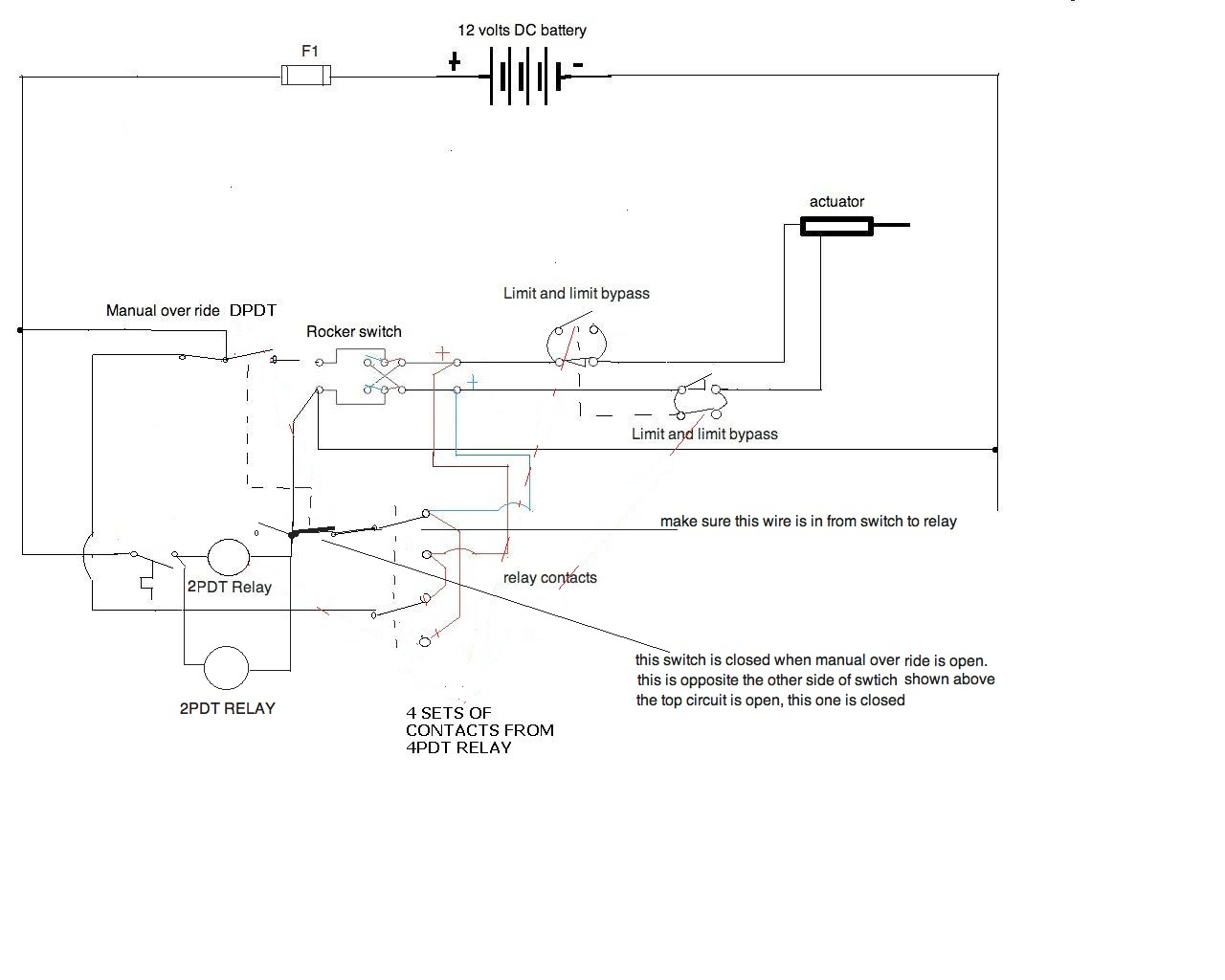 I Need A Wiring Diagram For 12v Application All Components Are 12 Volt Air Valve To Hook Linear Actuator Thermostat