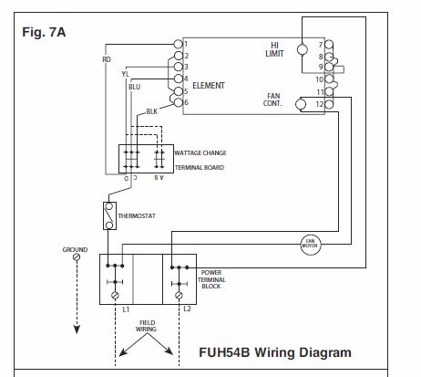 i need a wall mount thermostat to use with a fahrenheat electric Marley Thermostat Wiring Diagram