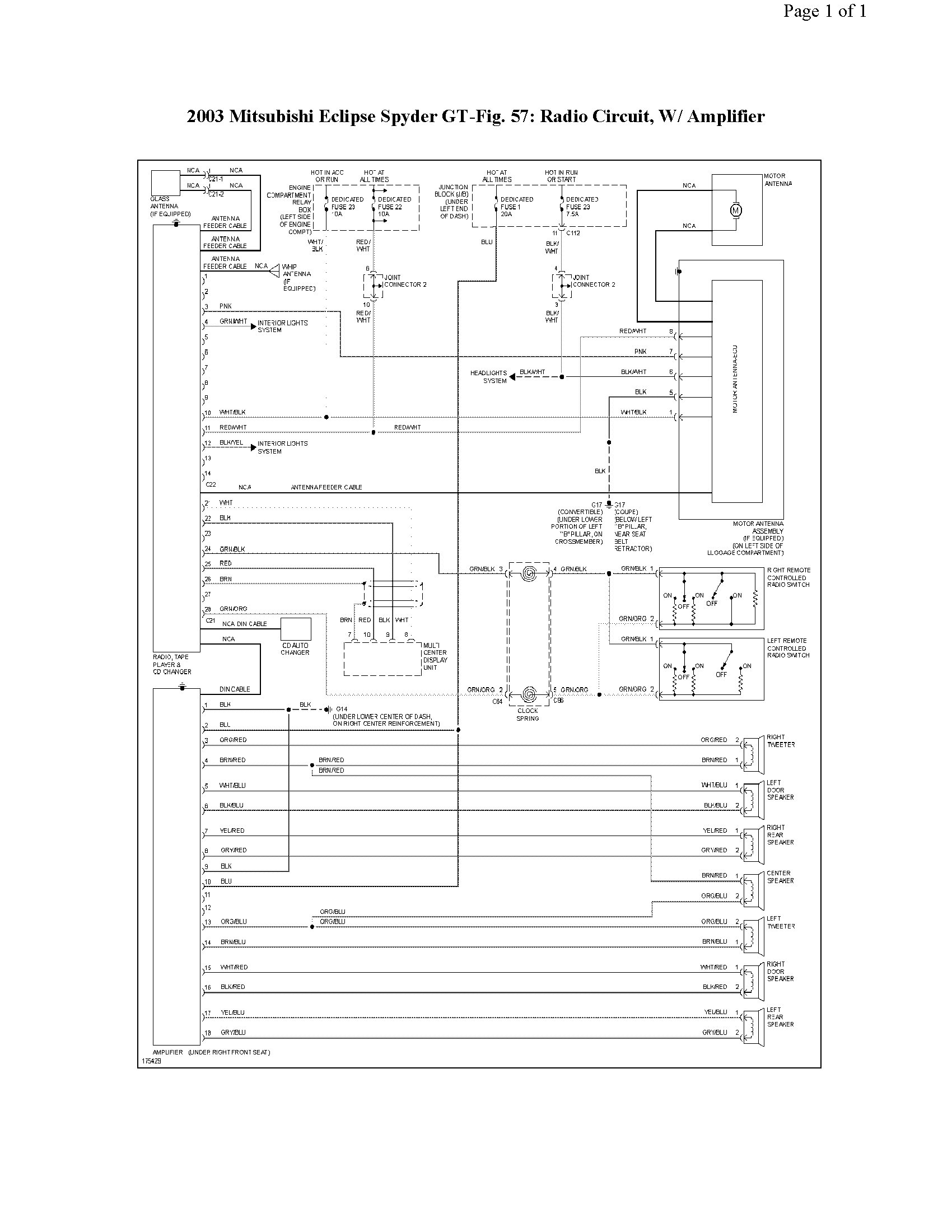 2010 03 16_003830_radiao_w_amp 2003 mitsubishi eclipse radio wiring diagram 2007 mitsubishi  at bayanpartner.co