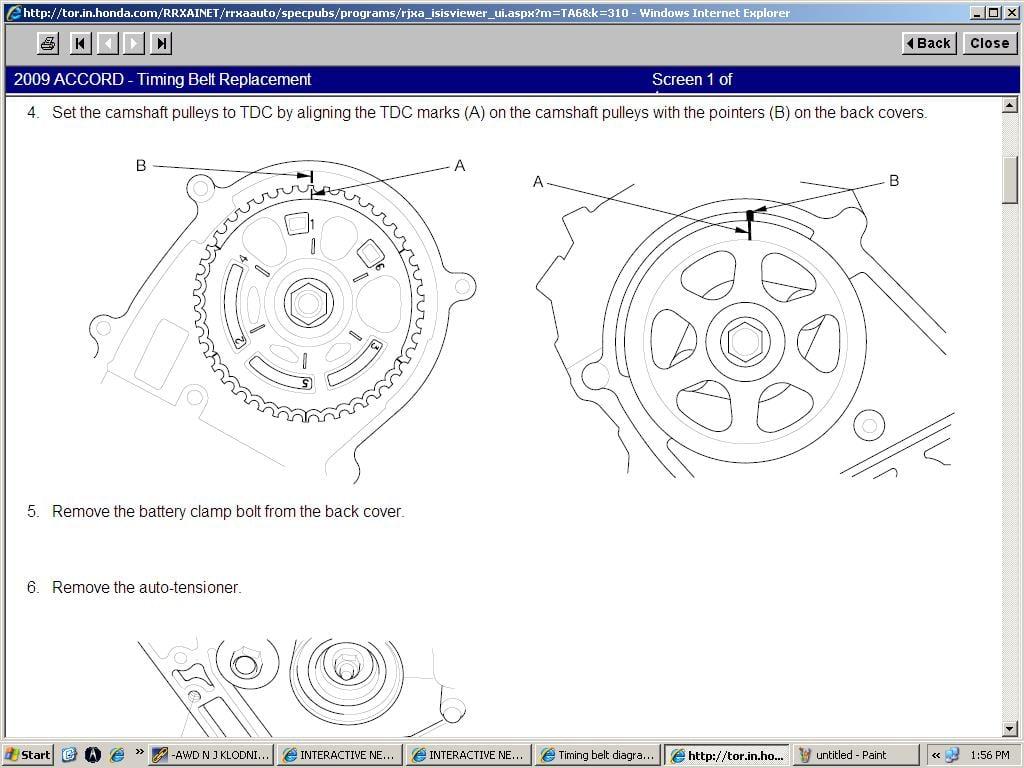 2008 Accord Pulley Diagram Wiring Diagrams Honda Timing Belt Tensioner V6 3 5 09 Force System
