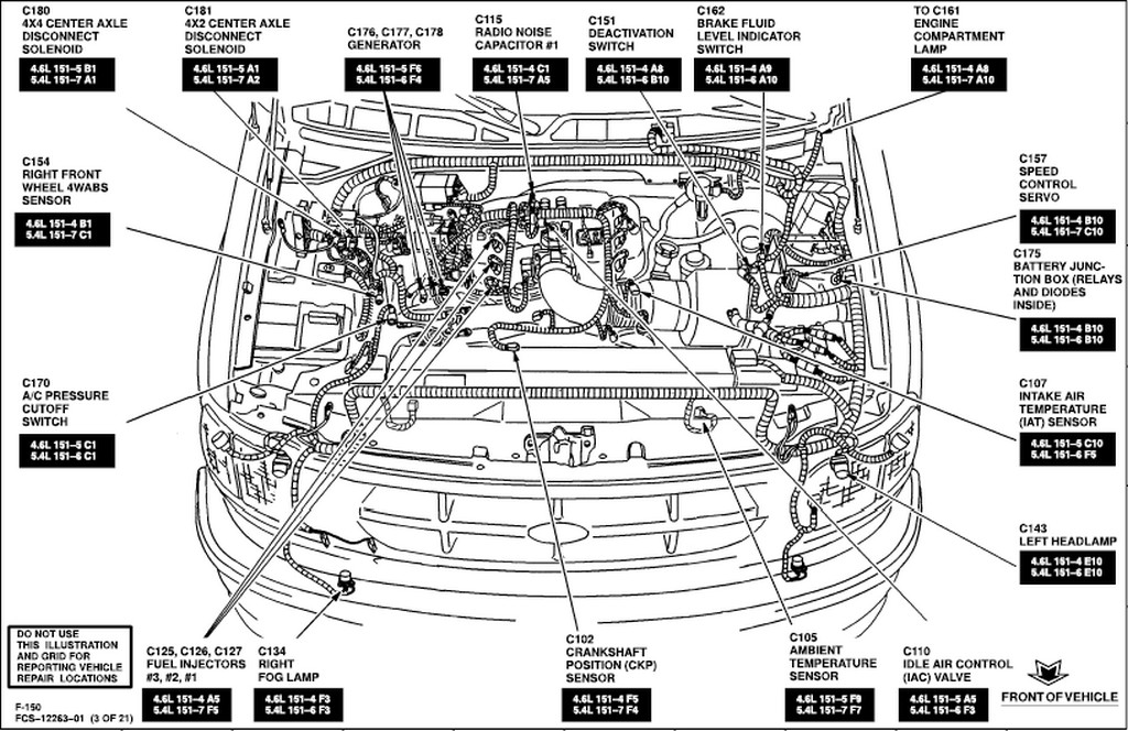 2002 ford f250 central junction fuse box diagram