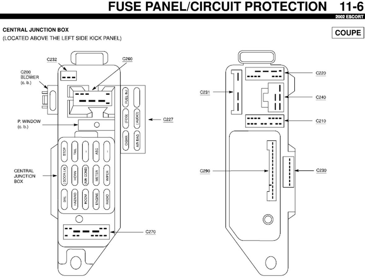 2009 10 08_222756_02_Escort_ZX2_fuse_panel my 2002 escort zx2 brake lights do not work but the turn signals 2000 ford escort zx2 fuse box diagram at mifinder.co