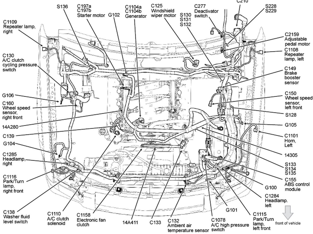 2013 ford explorer engine diagram