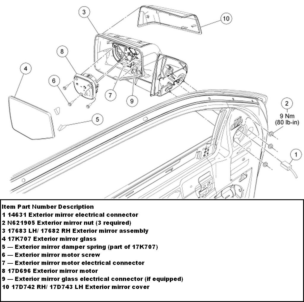 how do i replace the passanger side mirror on a 2008 ford