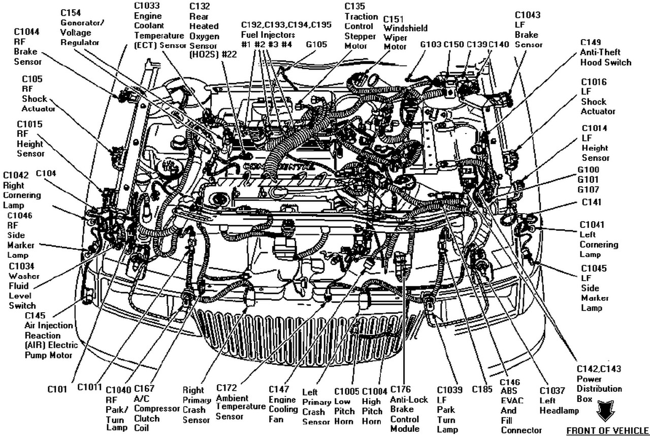 1999 Lincoln Continental Engine Diagram Wiring Diagrams Pump Motor Service Manual 2001 Or 2002 Belt 1969