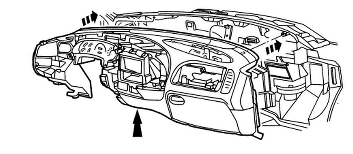 Exploded View Of 1999 F150 Dashboard