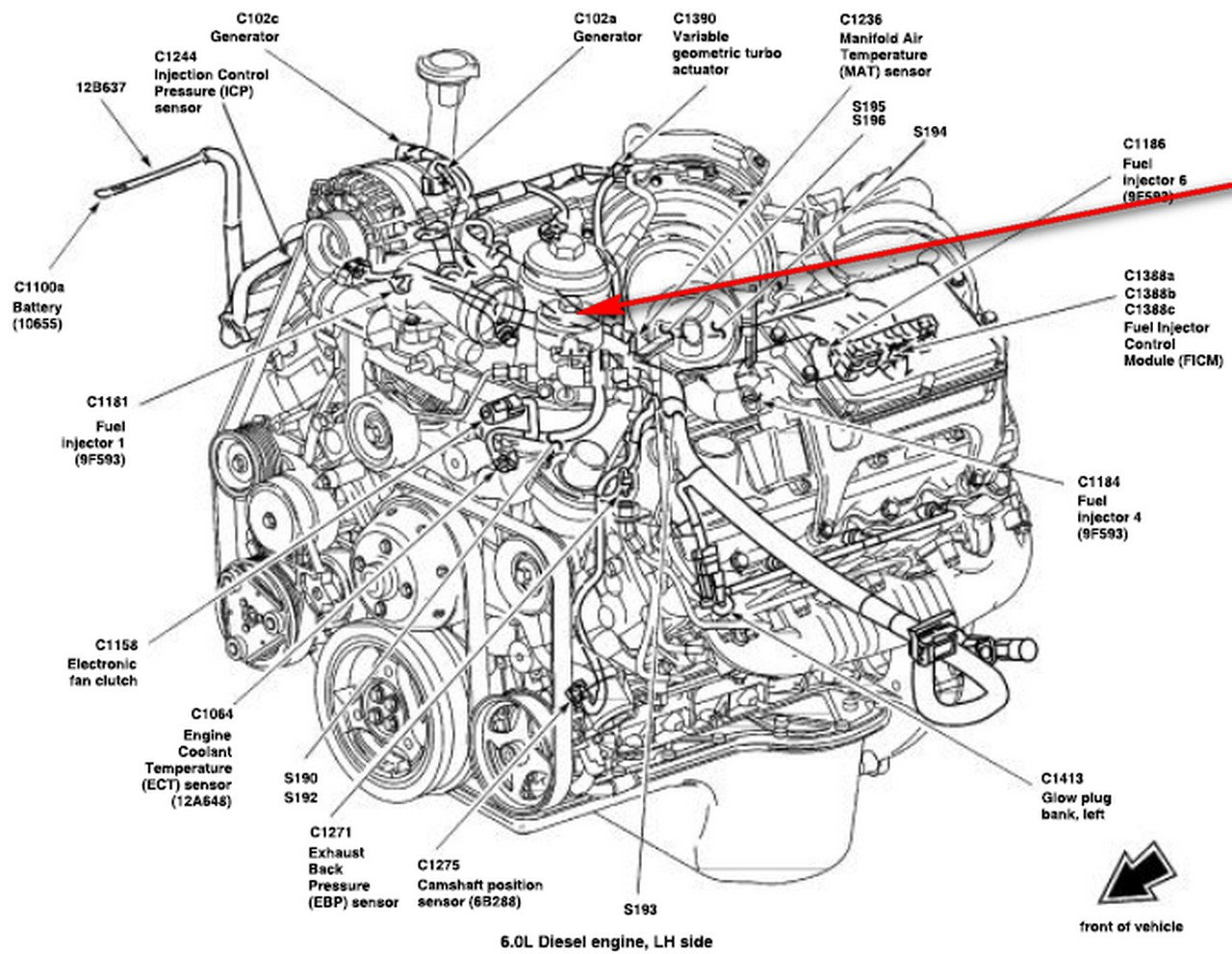 where can i get a diagram of the fuel filter housing located under the hood on a 06 u0026 39  6 0 liter
