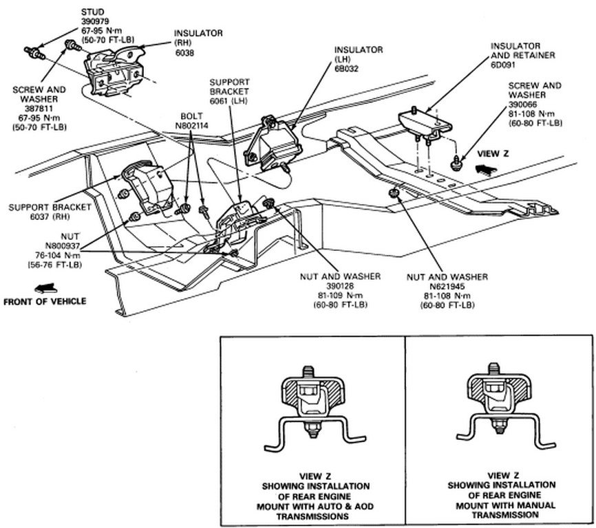 F250 Engine Mounting Diagram