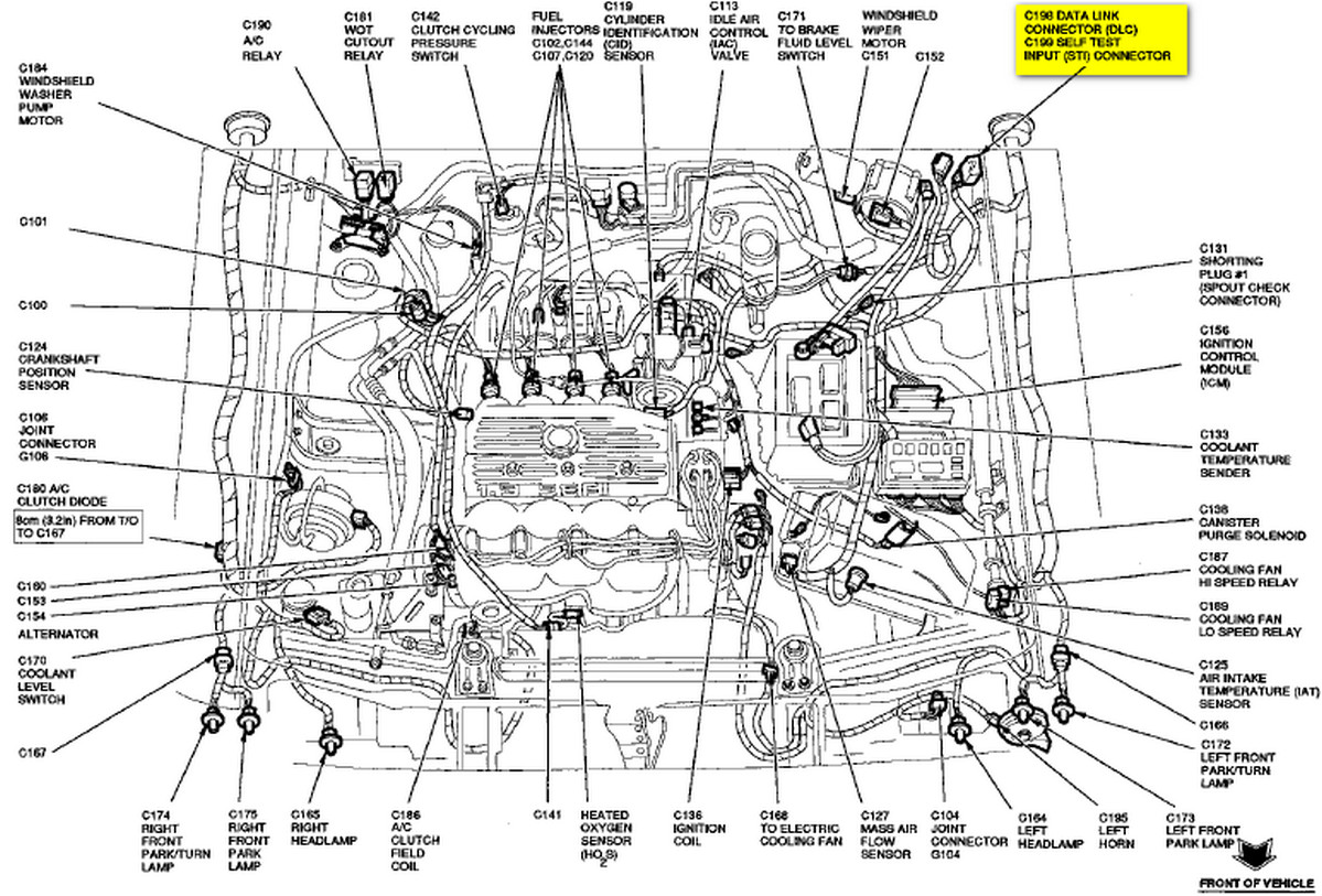 I Have A 1993 Ford Escort And I Have An Intermittent Starting 1998 Ford  Windstar Engine Diagram 1993 Ford 1.9 Engine Diagram