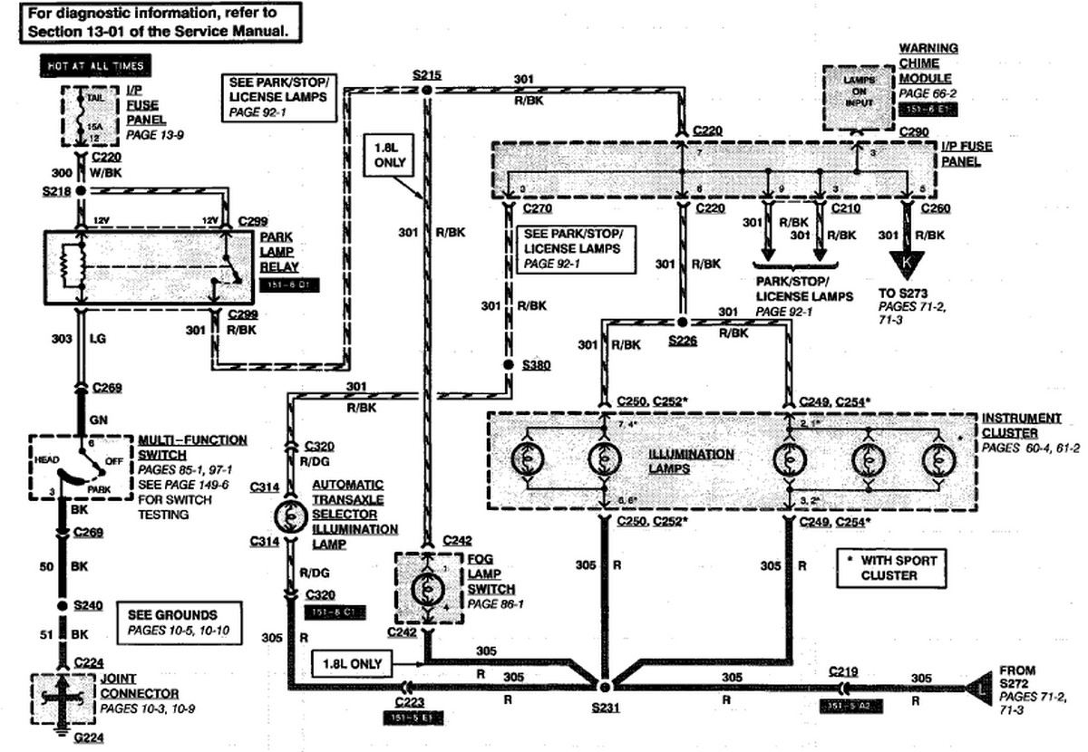 Ford Escort Wiring Diagram : Ford escort wagon the heater core transaxle lamps