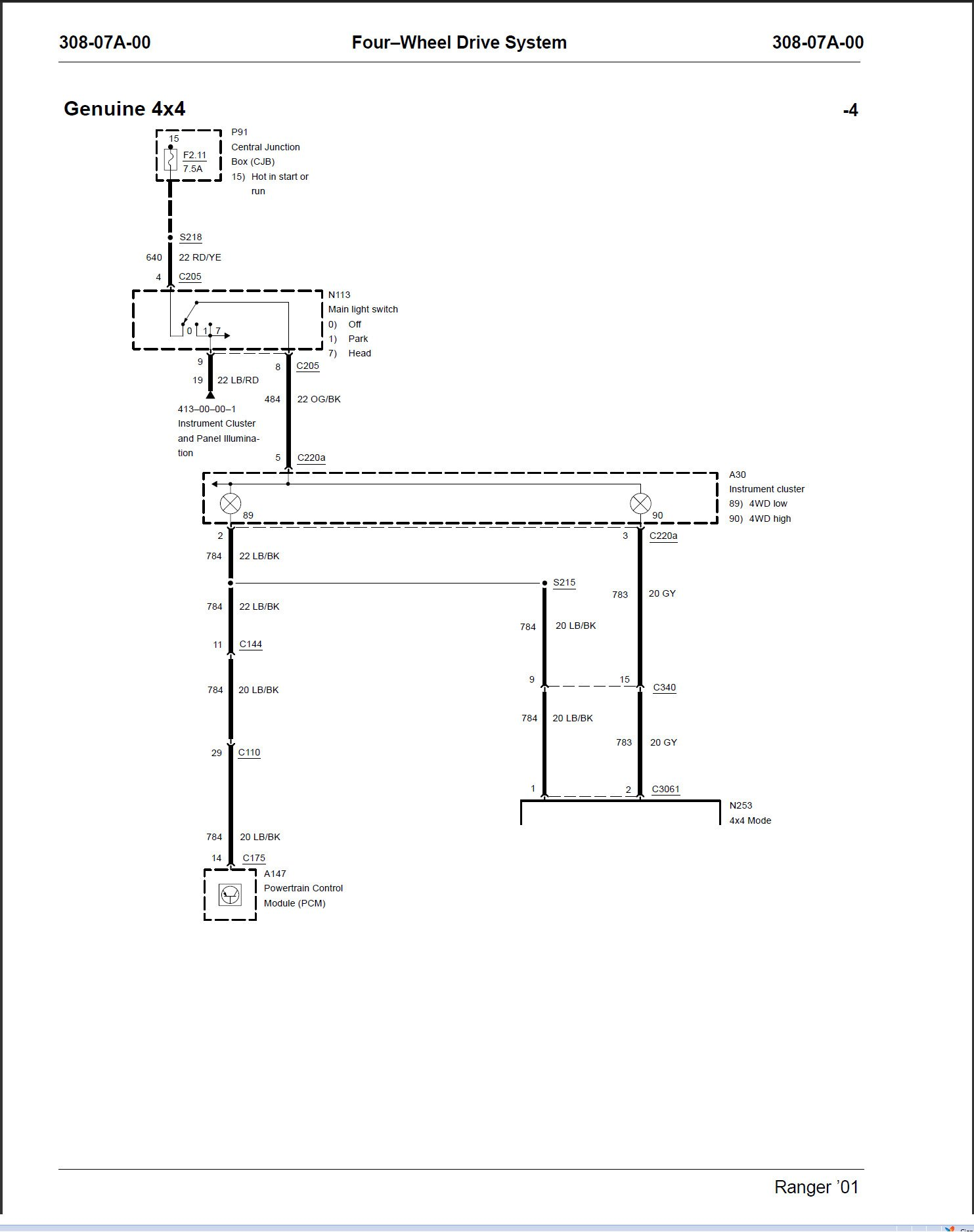 Need Wiring Diagram Schematic For 2004 Ford Ranger 4x4 V6