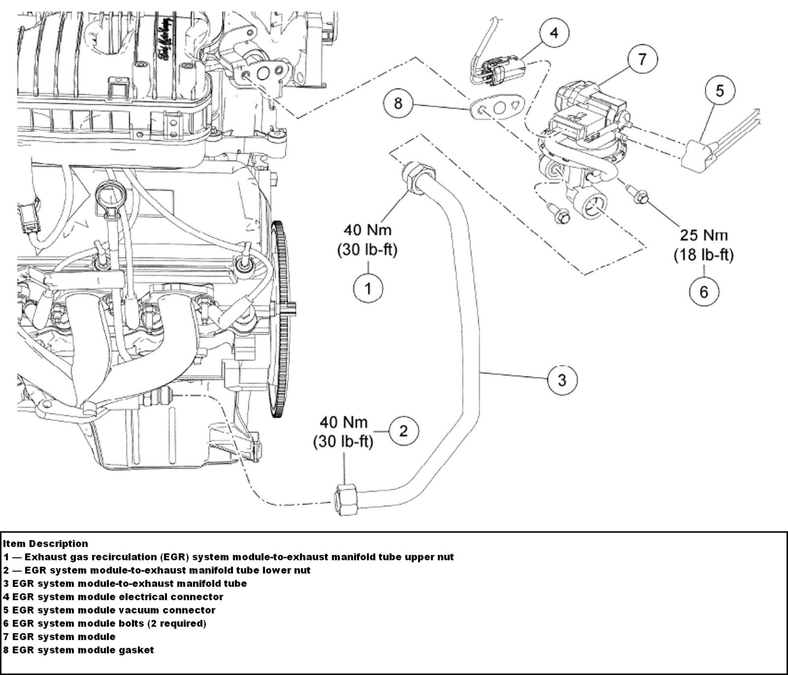 2004 ford freestar egr valve location