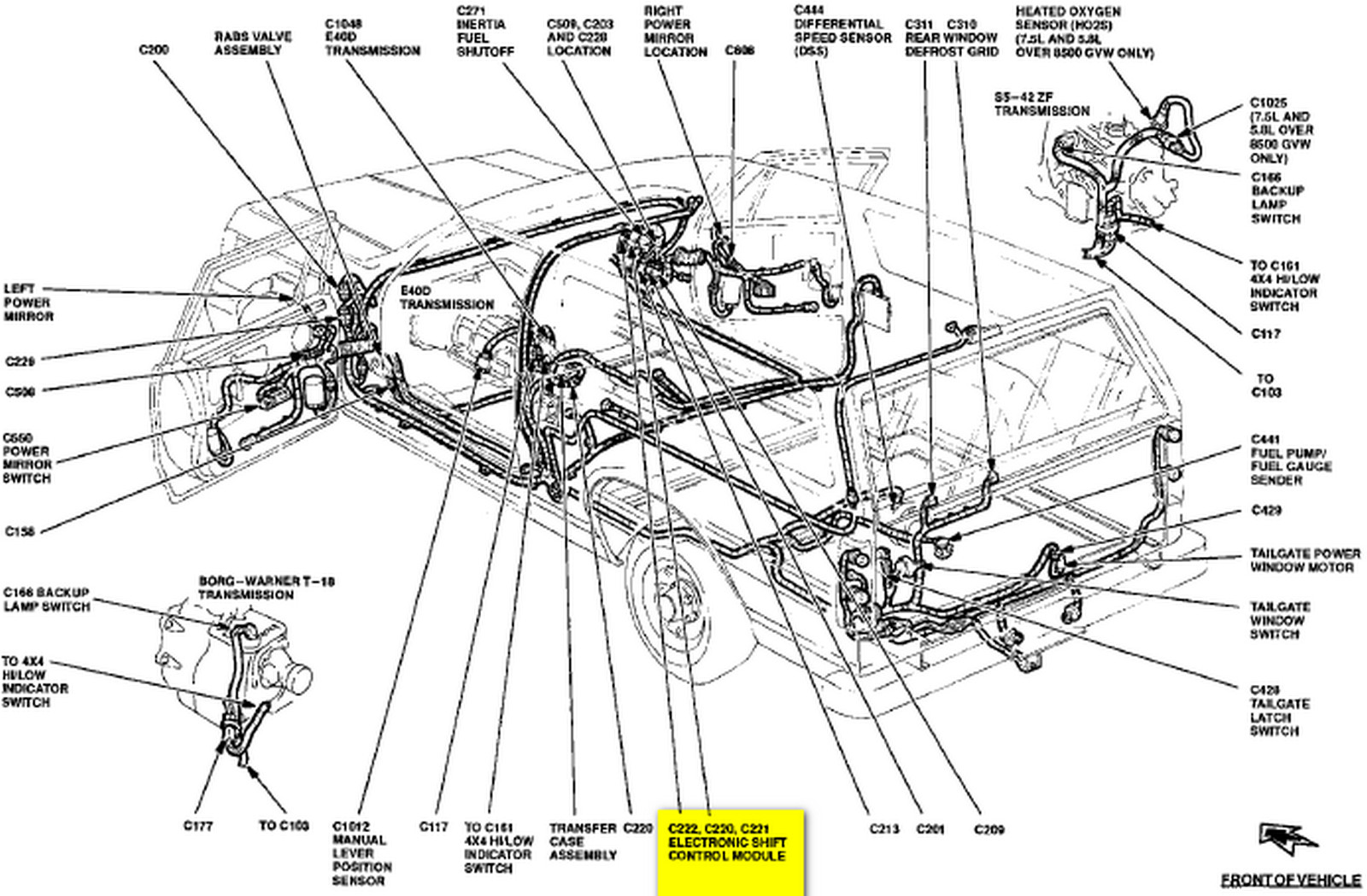 Where Is The Fwd Module On A 1993 Ford Bronco