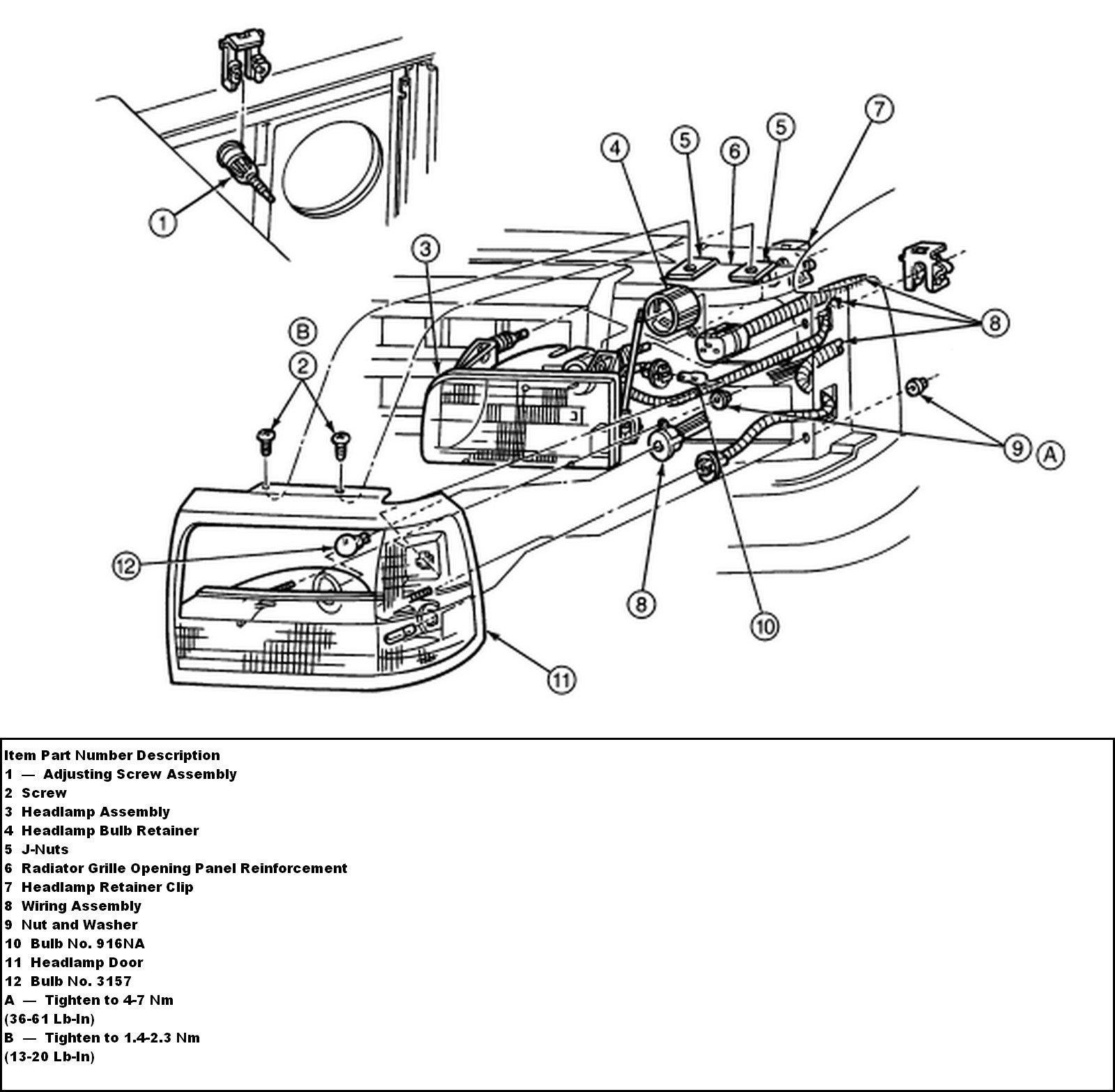 1995 Ford F 150 Cant Figure Out How To Remove The Head Lamp 95 4 9 Engine Diagram Graphic