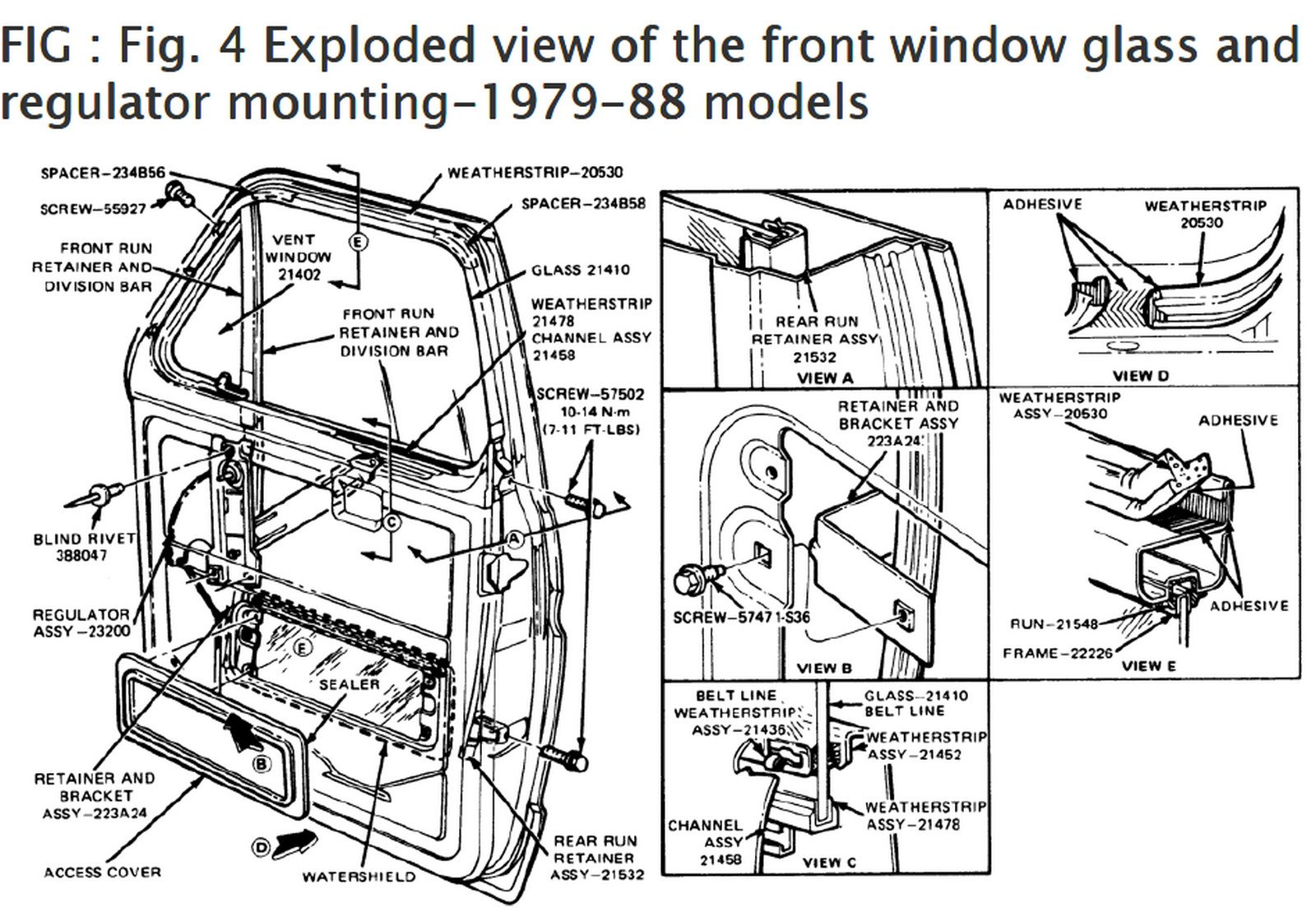 How Do I Replace A Vent Window On A 1988 Ford E350