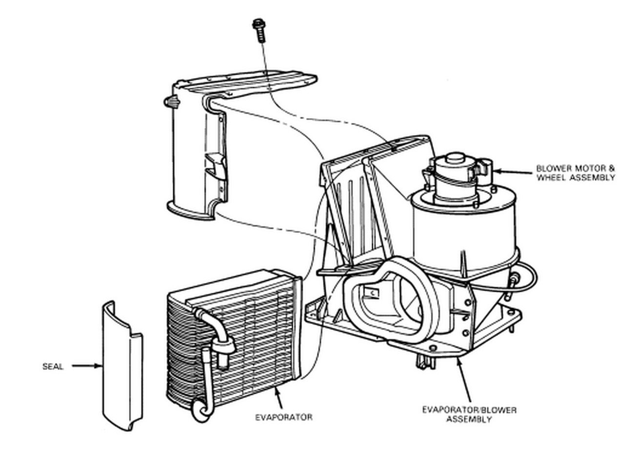 service manual  2012 ford e250 blower removal