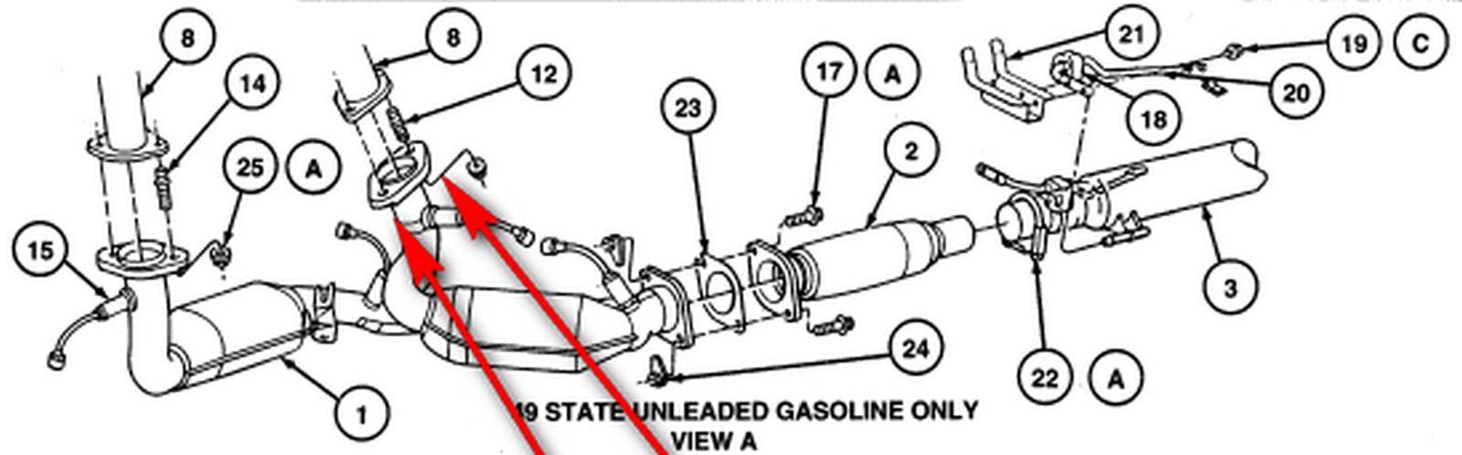 1997 Ford Taurus gl: catalytic converter..3.0L engine U..automatic