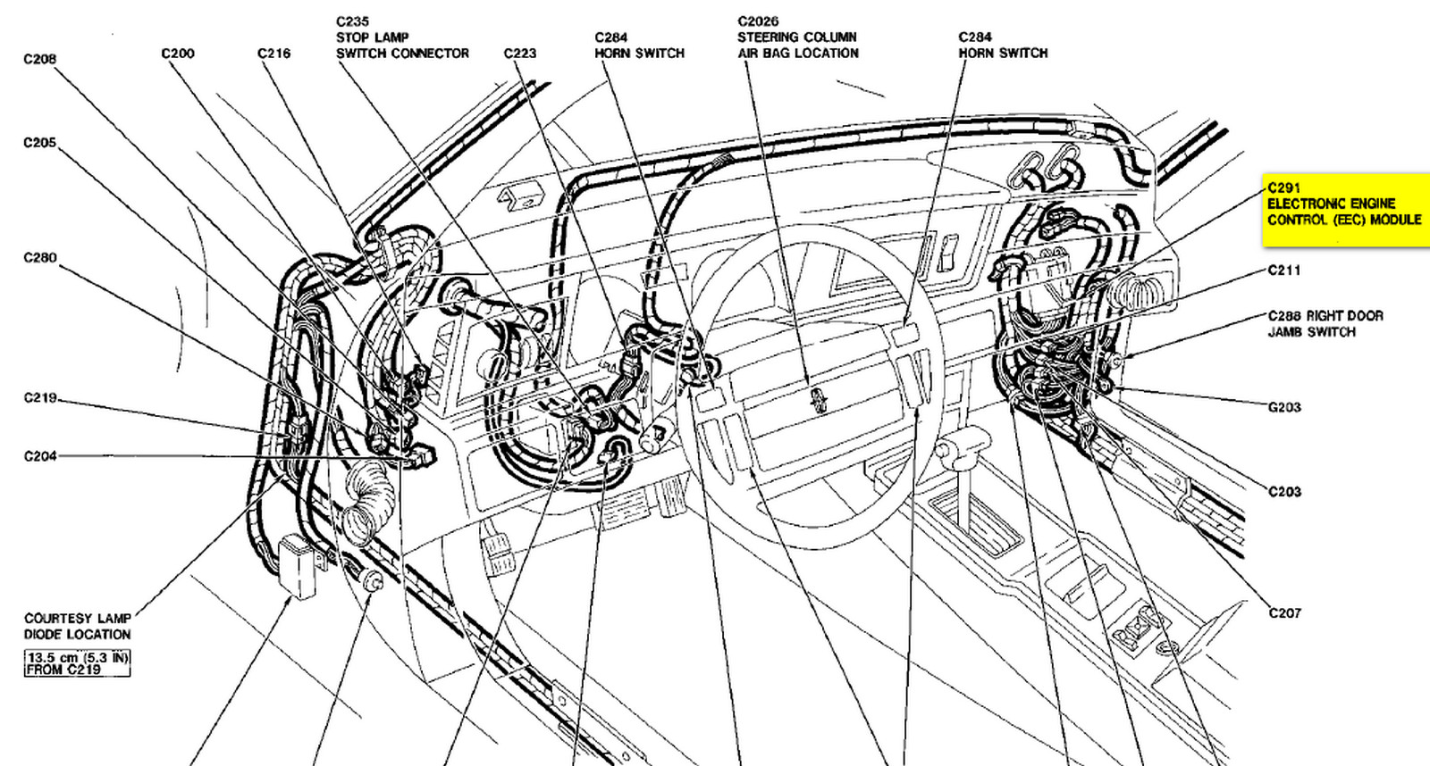 Where Can I Locate The Ecu In My 87 Lincoln Vii Lsc  And