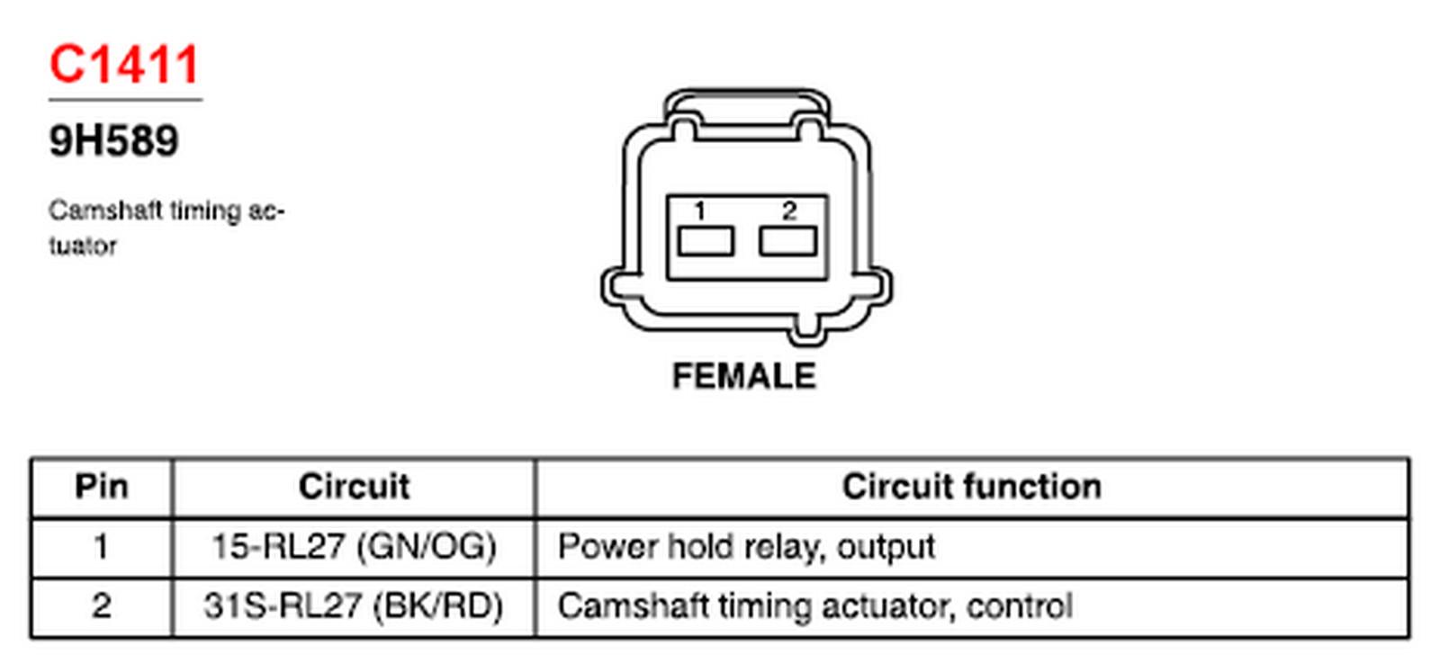 Variable Valve Timing Actuator Wiring Diagram