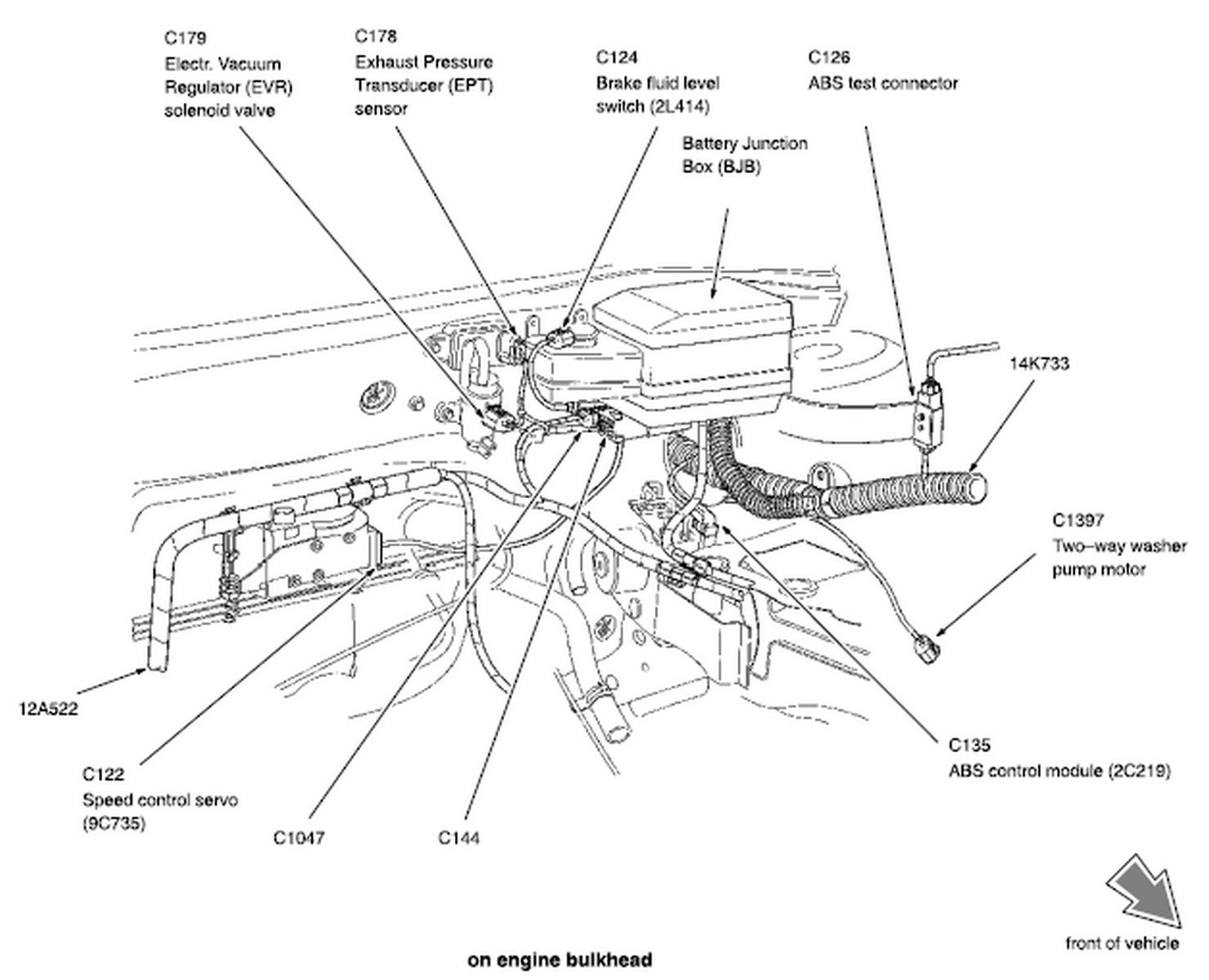 location of fuel pump and cooling fan fuses